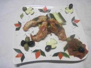 aiguillettes de poulet aux courgettes.photos. Aiguil10