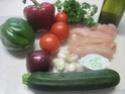 Aiguillettes de poulet aux dés de légumes Provençale.photos. Aiguil21