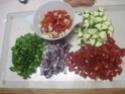 Aiguillettes de poulet aux dés de légumes Provençale.photos. Aiguil22