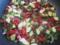 Aiguillettes de poulet aux dés de légumes Provençale.photos. Aiguil27