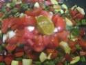 Aiguillettes de poulet aux dés de légumes Provençale.photos. Aiguil30
