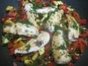 Aiguillettes de poulet aux dés de légumes Provençale.photos. Aiguil33