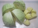 chou blanc aux lardons fumés.photos. Chou_a12