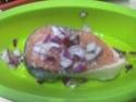 Darne de saumon rose aux légumes.photos. Darme_14