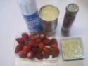 fraises sur un lit a la crème vanille.photos. Fraise11