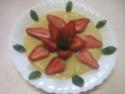fraises sur un lit a la crème vanille.photos. Fraise15