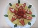 fraises sur un lit a la crème vanille.photos. Fraise16