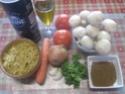 pâtes petits paniers et champignons,épices Massalé.photos. Pate_a11