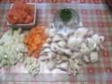 pâtes petits paniers et champignons,épices Massalé.photos. Pate_a12