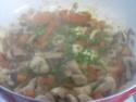 pâtes petits paniers et champignons,épices Massalé.photos. Pate_a23