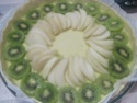 tarte aux kiwis et poires,crème Mascarpone.photos. Tarte_17