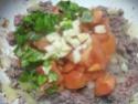 tortillas garnis de boeuf haché et légumes.photos. Tortil17