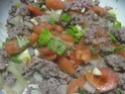 tortillas garnis de boeuf haché et légumes.photos. Tortil18
