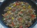 tortillas garnis de boeuf haché et légumes.photos. Tortil20