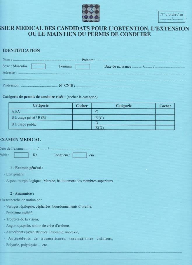 permis de conduire : la visite médicale des conducteurs de plus de 65 ans 1a_dos10