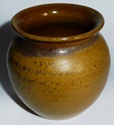 SMALL BROWN EXPERIMENTAL POT  INCISED HP. - Helen Pincombe? Or Haven? Hppot10