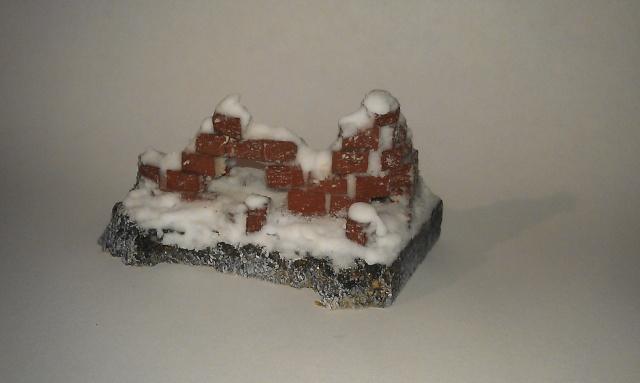 mon premier petit décor ruine effet neige Imag0410