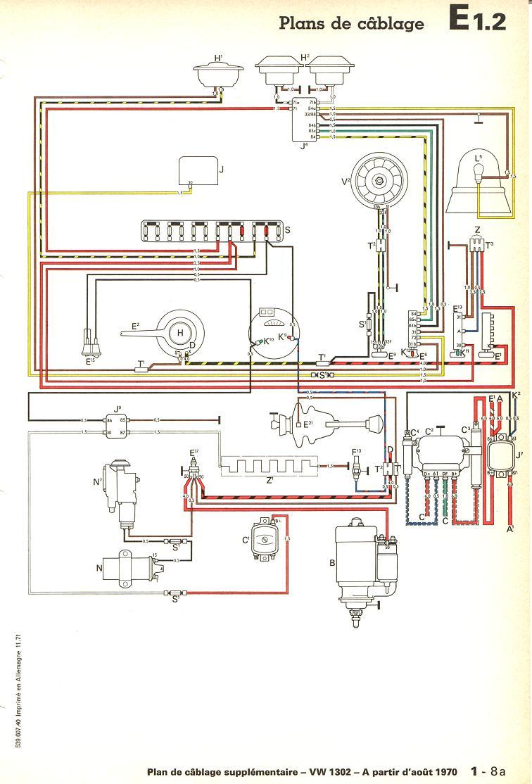 "schéma cablage des 1302 ""L"" 1302-710"
