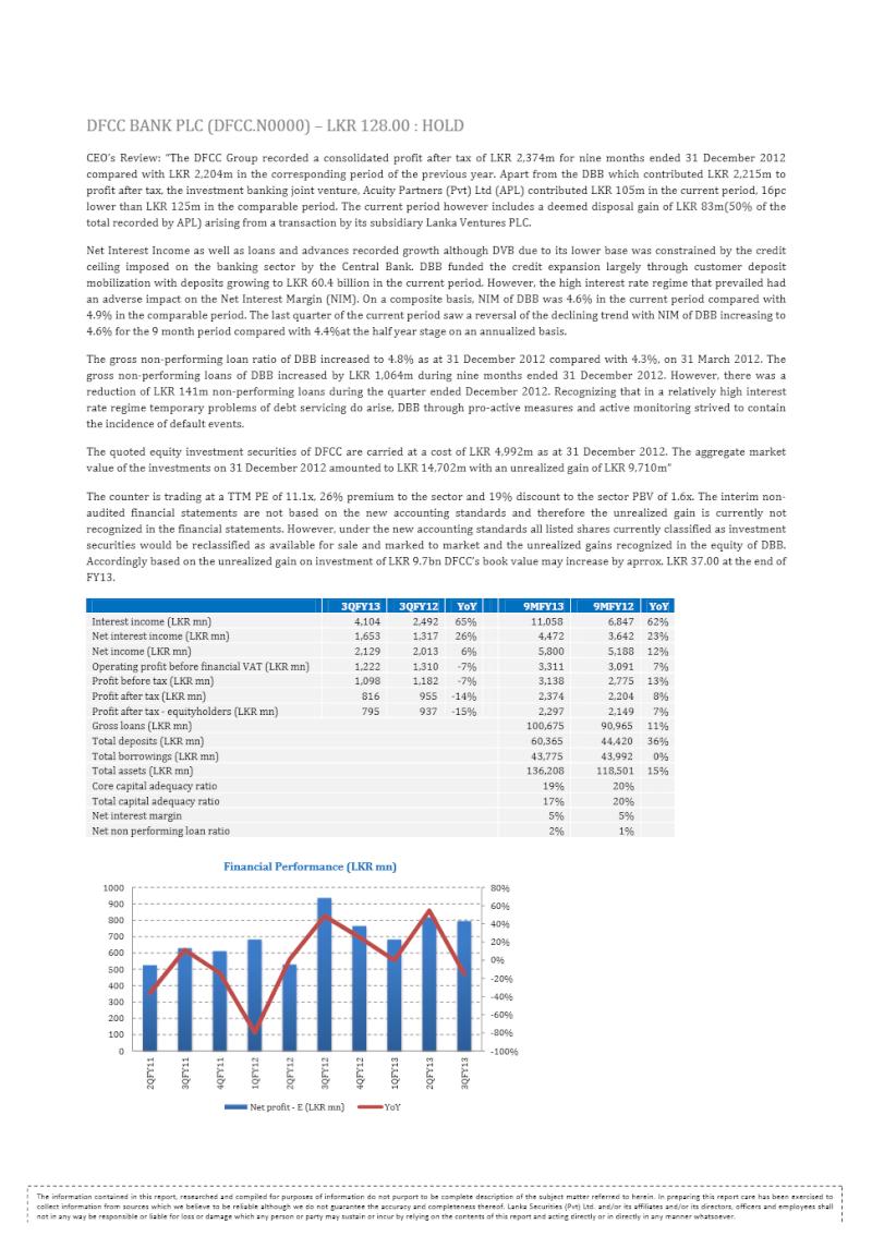 DFCC Bank (DFCC) recommendation Dfcc10