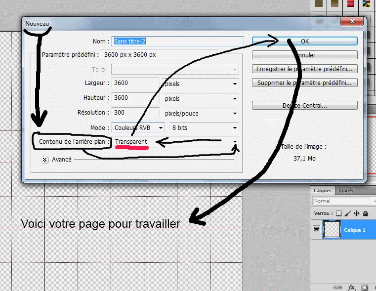 Fond transparent sous Photoshop  Tuto_t10