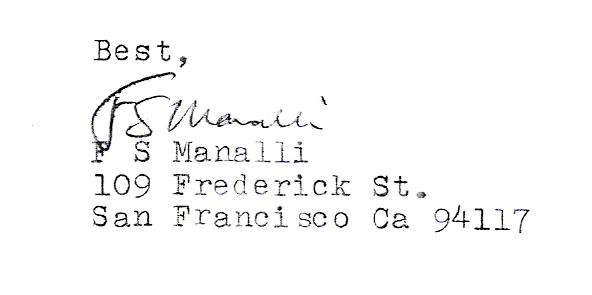 Handwriting, published works, phrases etc. Freder10