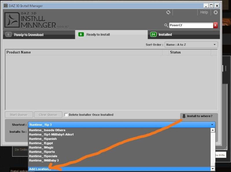 Frage zum DAZ Downloadmanager Dimadd10