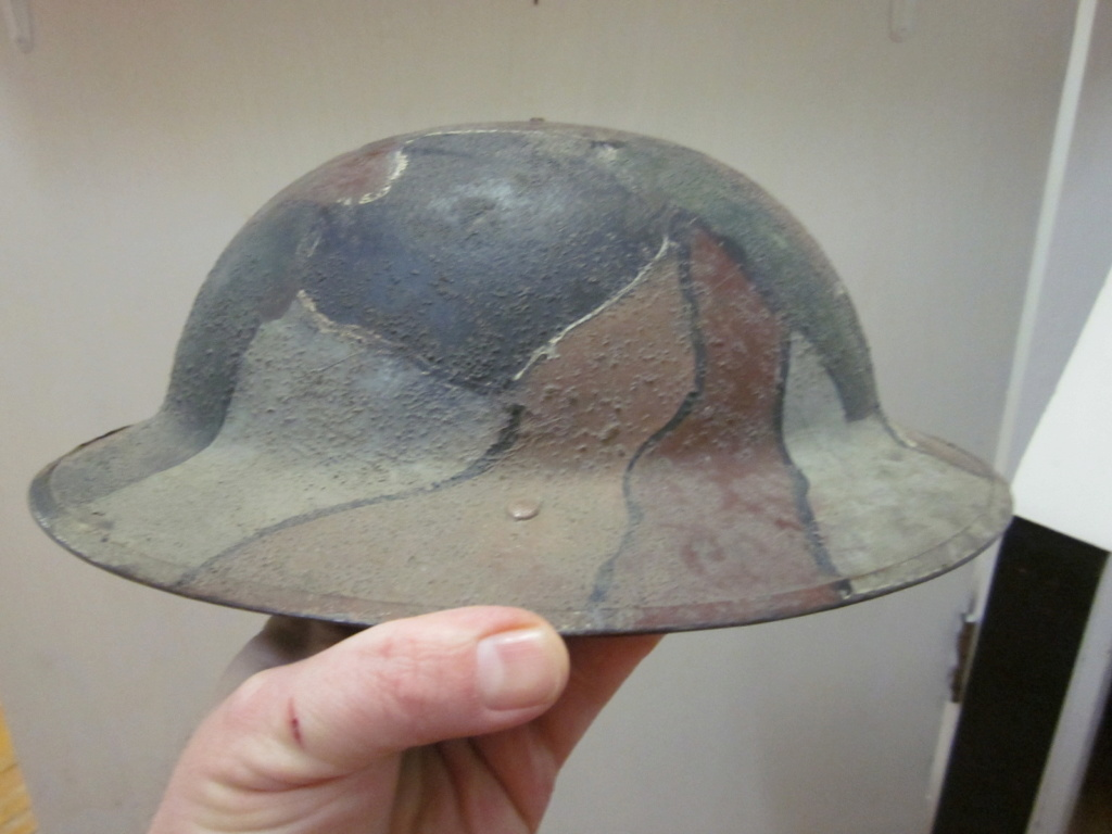 WW1 British Canadian camo helmet Img_9112