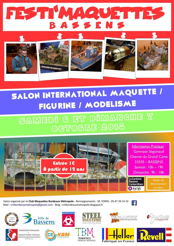 Expo Festi'maquettes à Bassens (33) Affich11