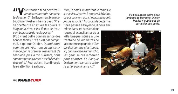 Olivier Dans le Paris Turf Magazine  Captu119