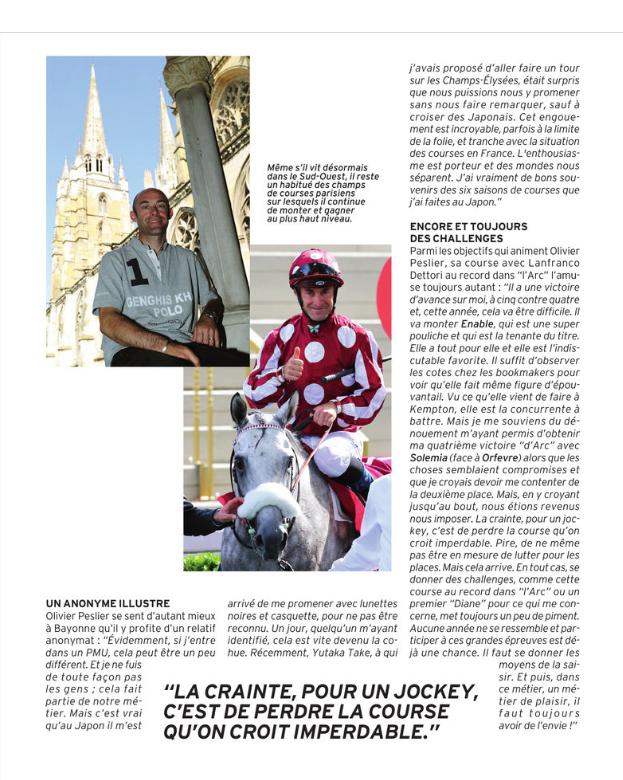 Olivier Dans le Paris Turf Magazine  Captu125