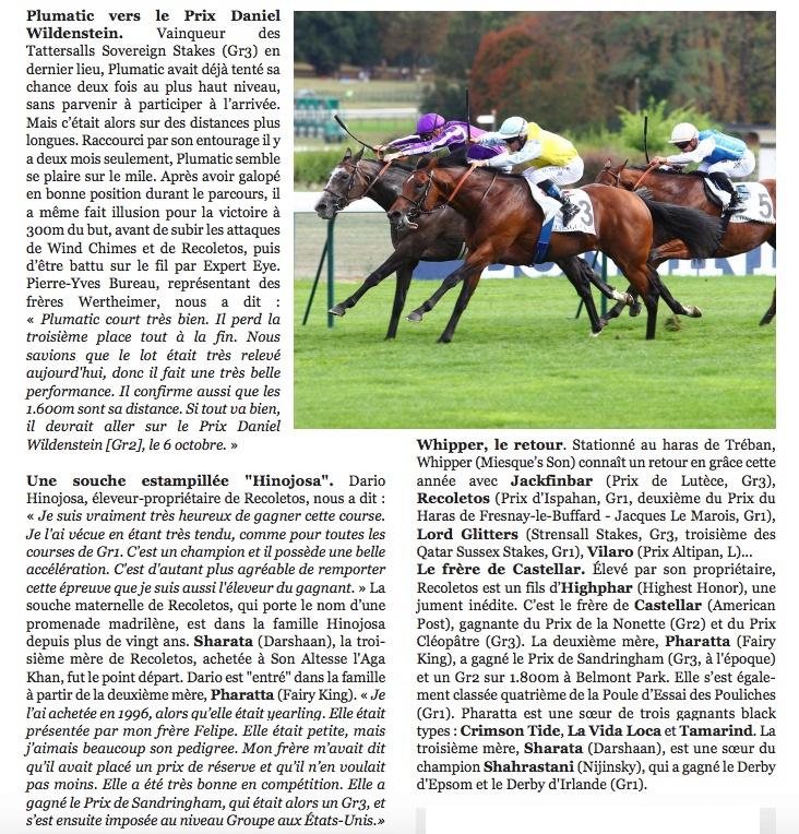Le compteur de victoires : 2781, Recoletos, 09/09/18 Recole19