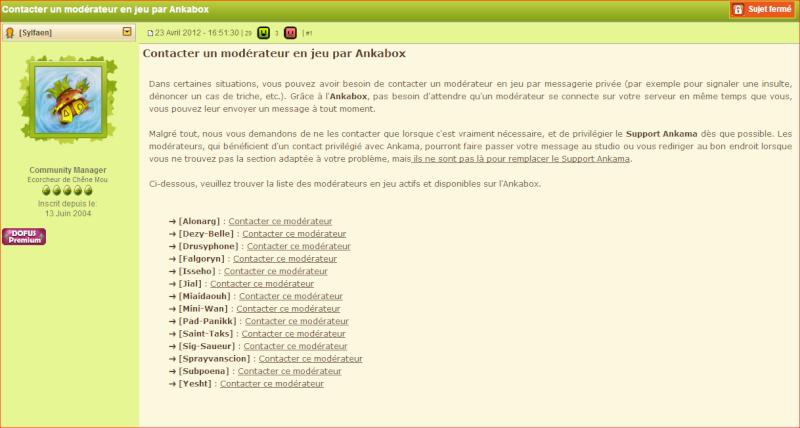 Les règles et les sanctions sur Dofus. (et comment signaler une infraction) Liste_13