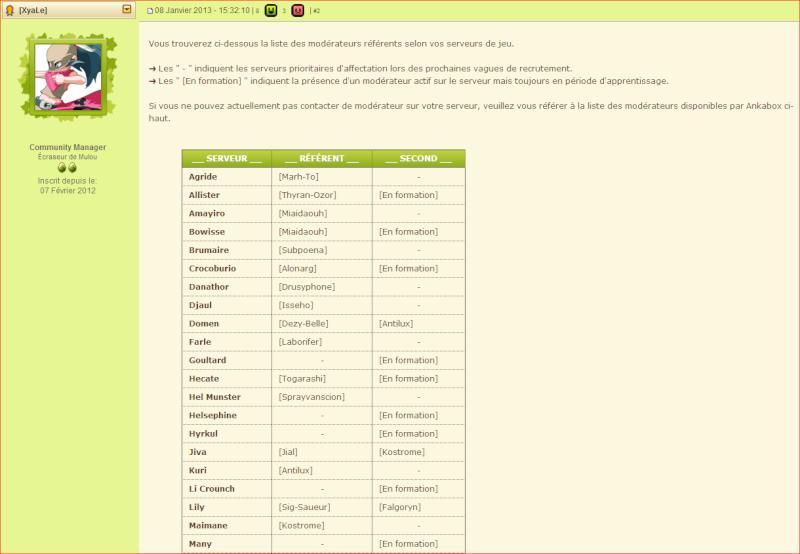 Les règles et les sanctions sur Dofus. (et comment signaler une infraction) Liste_14