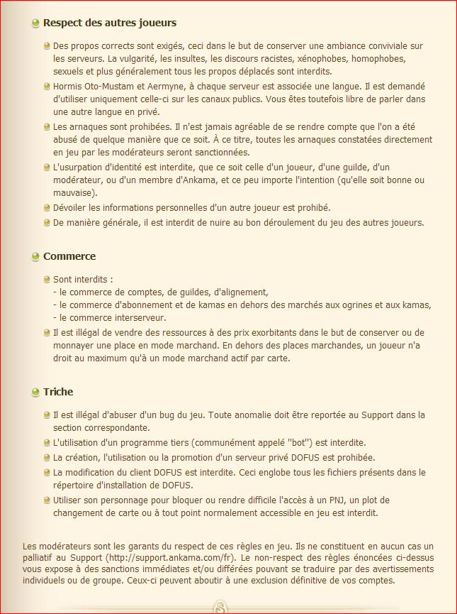 Les règles et les sanctions sur Dofus. (et comment signaler une infraction) Ragle_13