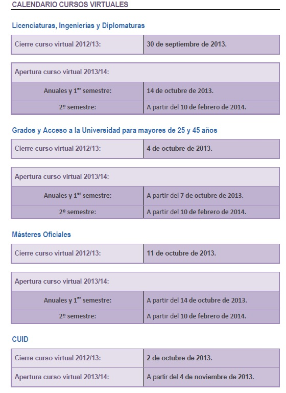 Calendario académico curso 2013/2014 Calend12