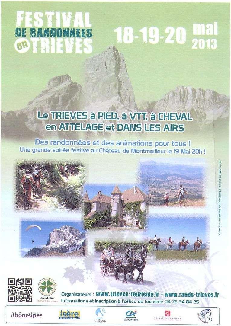 Festival des randonnées en Trièves Flyers10