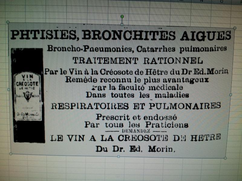 Bouteille 'Vin à la créosote de hêtre' W. Brunet et Cie BIMAL de Québec 01011