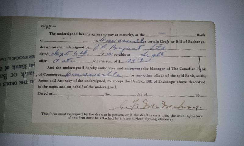Chèque Bryant's de 1944 02012