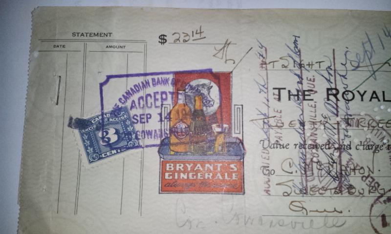 Chèque Bryant's de 1944 02211