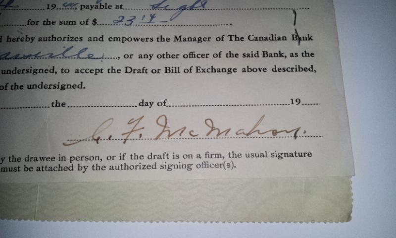 Chèque Bryant's de 1944 02612