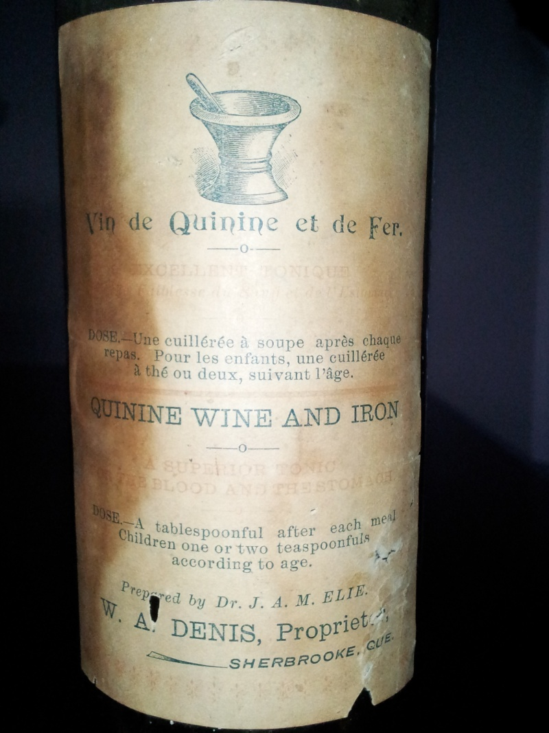 Vin de Quinine et de Fer du Dr. J.A.M. ELIE de Sherbrooke 04910
