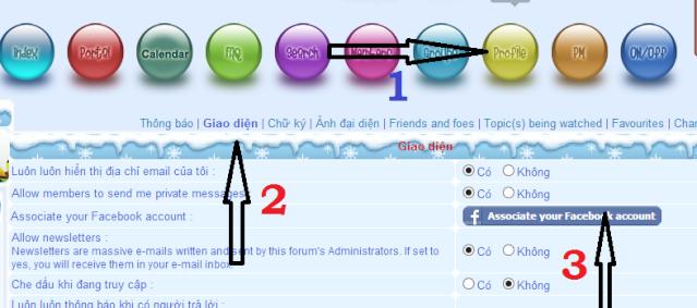 Đăng Nhập forum bằng ID Facebook khi đã đăng kí trước đây. Captur10