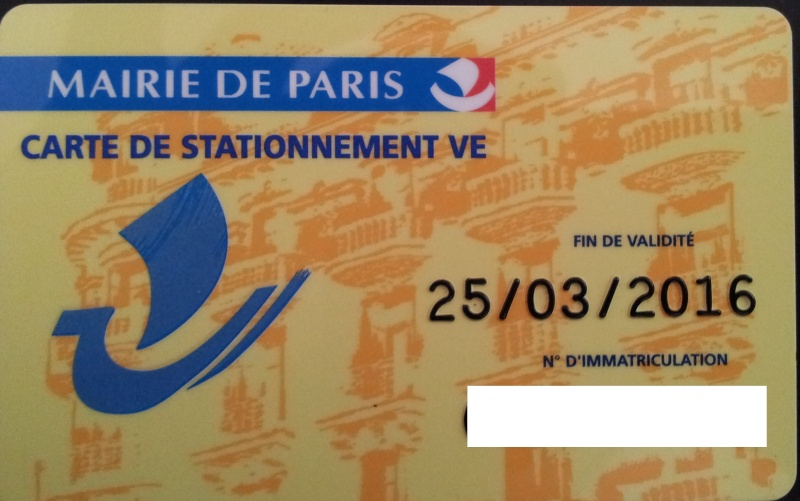 CARTE DE STATIONNEMENT V.E PARIS 20130325