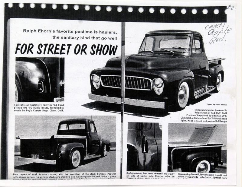 Ford Pick Up 1953 - 1956 custom & mild custom 1954-r24