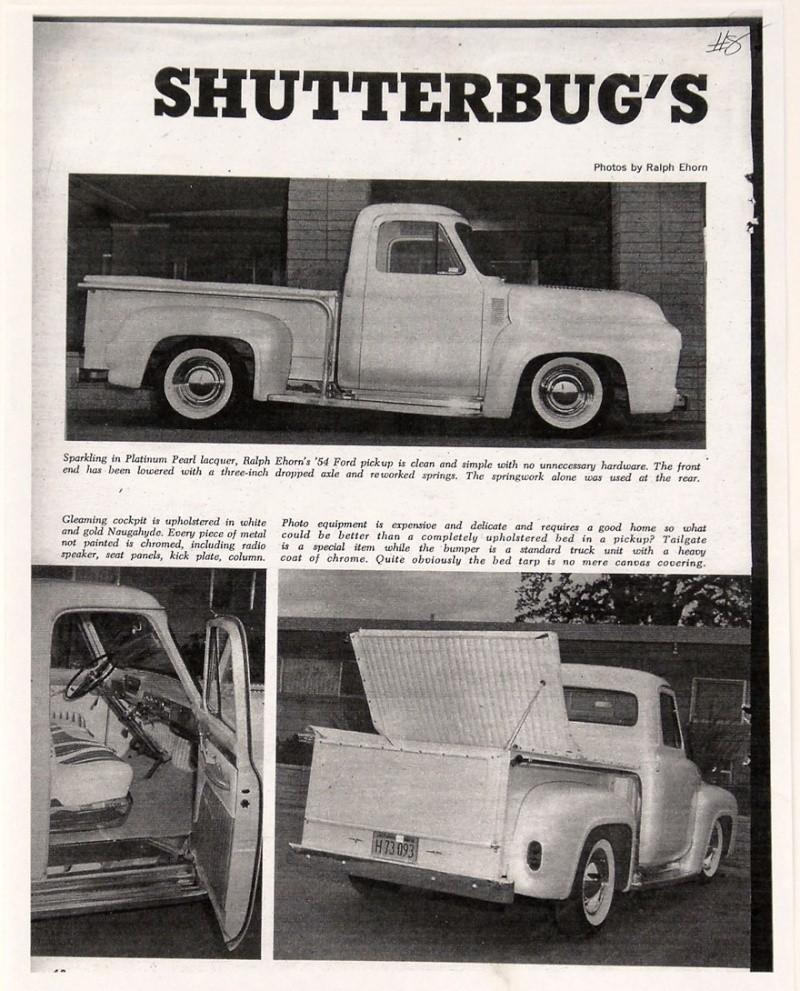 Ford Pick Up 1953 - 1956 custom & mild custom 1954-r30