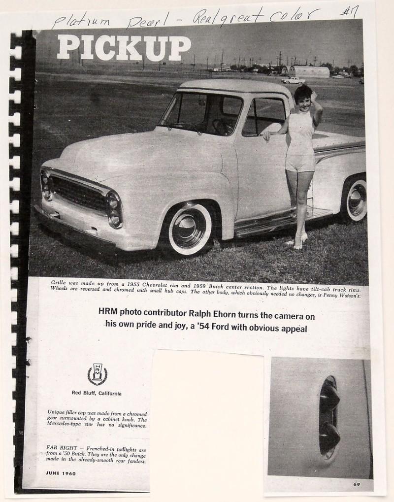 Ford Pick Up 1953 - 1956 custom & mild custom 1954-r31