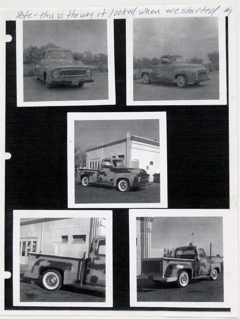 Ford Pick Up 1953 - 1956 custom & mild custom 1954-r37