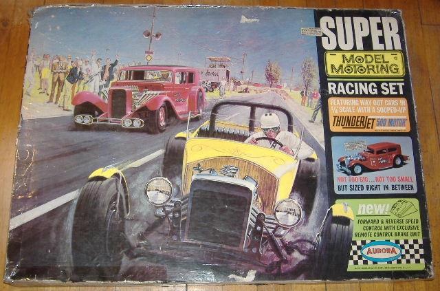1963 slot car hot rod racing set Aurora 26835210