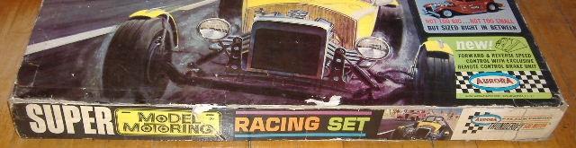 1963 slot car hot rod racing set Aurora 26835211