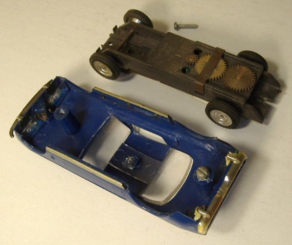 1963 slot car hot rod racing set Aurora 26835228
